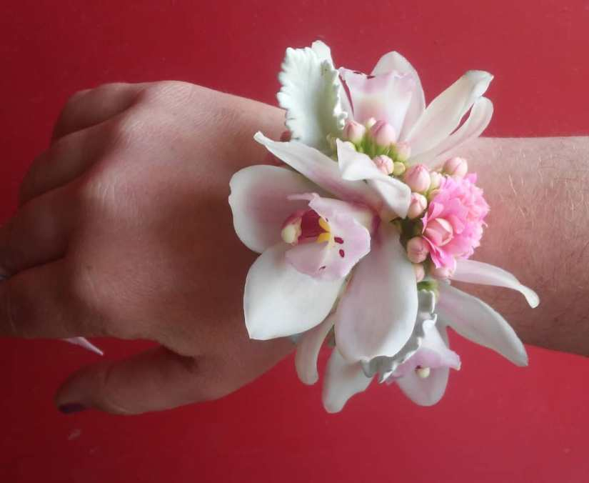 corsage, prom, wrist corsage, wristlet, orchid, boutonniere, wedding