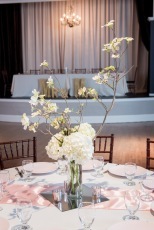 Guest table decor for reception