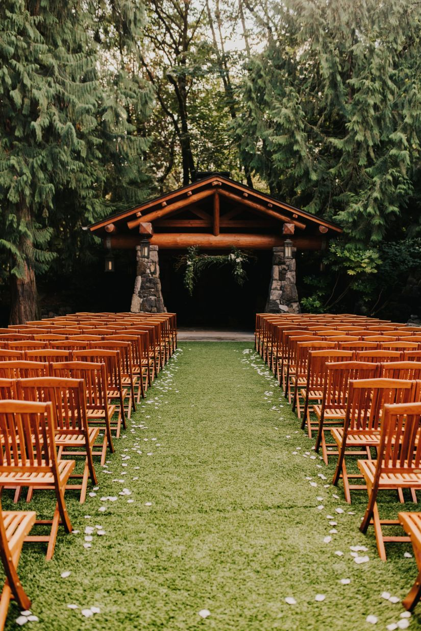 gazebo, outdoor wedding, wedding reception, rustic charm, elegant romantic, wooded, wooden forest wedding