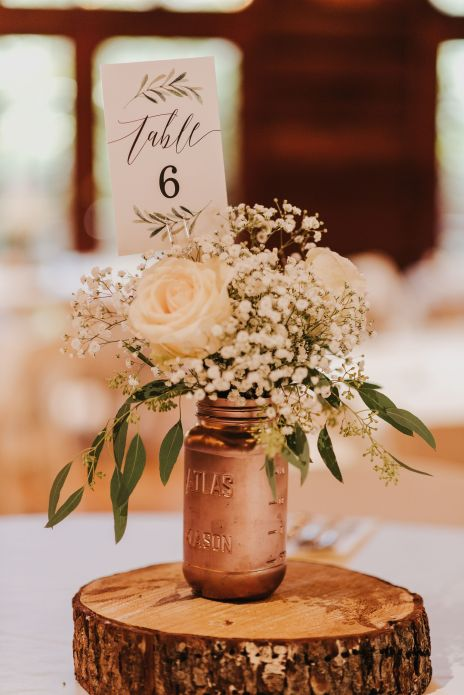 caligraphy, wedding stationery, babies breath, vendella roses, simple rustic elegant centerpiece, wedding flowers