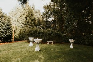 cocktail tables, greenery details, wedding greenery, romantic greenery, cocktail table ideas, wedding cocktail hour
