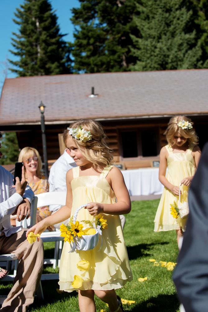 flowergirl, flower girl basket, flower girl crown, flower crown, floral crown, yellow wedding, yellow wedding flowers, sunflower wedding, wedding details